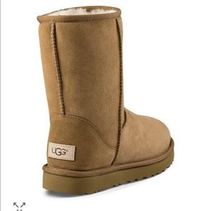 Uggs Short Boot Chestnut Sz 6